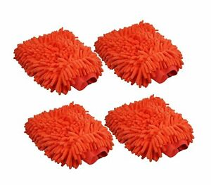 Clearance Abn Car Wash Chenille Microfiber Mitt 4 Pack Reusable Cleaning Mit