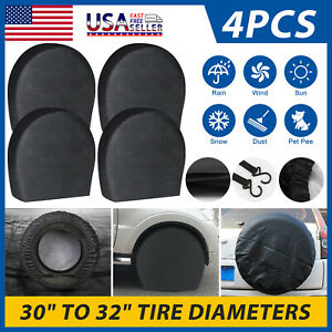 30 32 Waterproof Wheel Tire Covers Sun Protector For Truck Car Rv Trailer Suv