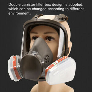 For 6800 Facepiece Respirator Full Face Painting Spraying Gas Mask Filter 7 In 1