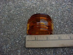 30s 40s 50s Maybe Nos Amber Glass Marker Clearance Lamp Lens