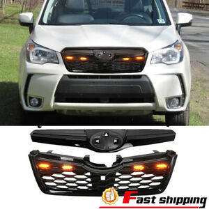 Fit 2014 2018 Subaru Forester Sti Style Black Front Bumper Upper Lower Grille