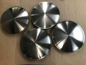Set Of 4 15 Moon Stainless Steel Hubcaps