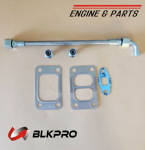 Turbo Oil Feed Line Tube Turbcharger Connectors For Dodge 5 9 6 7 Cummins 03 19