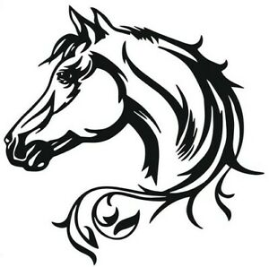 Horse Head Animal Pattern Car Truck Motorcycle Boat Decal 6 Or 12