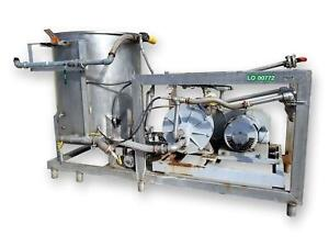 Used Chemidyne Commander Power Wash Cleaning System With 30hp Kobe Roto jet Pump