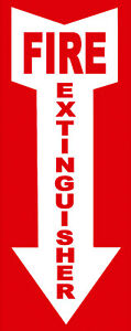 Fire Extinguisher Sticker Or Flexible Magnet Magnetic Decal Made Usa 4 x11