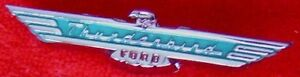 55 56 57 Thunderbird T Bird Nos Dash Emblem Ornament