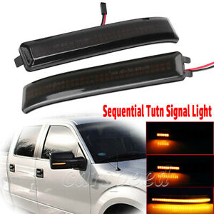 Sequential Led Side Mirror Turn Signal Light For Ford F 150 F150 Raptor 09 14