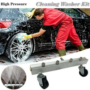 High Pressure Car Washer Cleaner Undercarriage Body Chassis Broom Kit 4nozzle Us