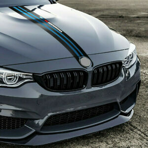 Gloss Carbon Fiber Style Car Front Hood Cover Decal Universal For Bmw 3 5 Series