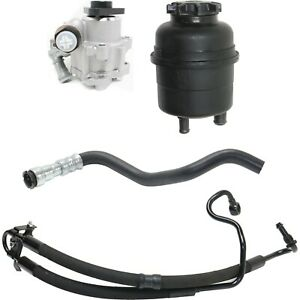 Power Steering Pump Kit For 99 Bmw 323i 328i With Reservoir And Hoses 4pc
