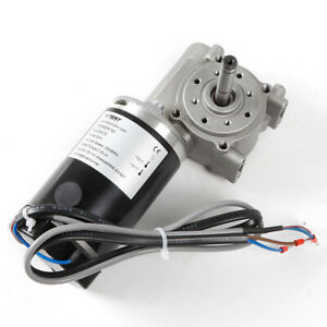 Dc24v 250rpm Speed Reduction Worm Gear Motor With Cable 25kg cm High Torque 60w