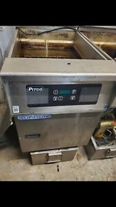 Pitco Solstice Supreme Natural Gas 75 Lb Floor Fryer With Intellifry Computer C