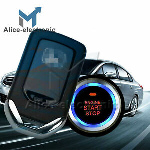 Car Alarm Start System Key Passive Keyless Entry Push Button Remote B2ae