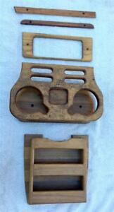 1985 95 Chevy Van Custom 5pc Center Console Cover Wood Drink Tray