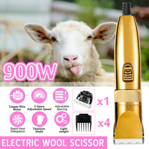 900w Electric Shears Shearing Clipper Sheep Machine Animal Goat Grooming Clippe