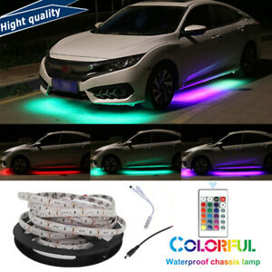 16ft Under Car Rgb Led Strip Bar Underbody Underglow Glow Light Auto Accessories