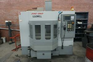Leadwell Fmc 560 Twin Pallet Cnc Vertical Machining Center New 2005