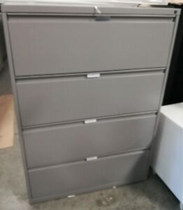 Lateral File Cabinets 4 Drawer Local Pick up very Good Condition Beige black