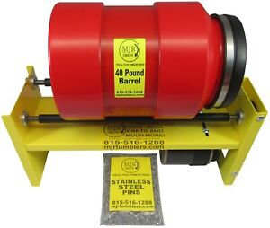 40lb Rotary Tumbler Brass Shell Case Cleaning Reloading 10lb Stainless Steel pin $640.00