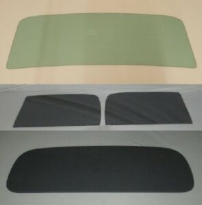 1935 1936 Ford Pickup Glass Truck Green Windshield Grey Door Back Set