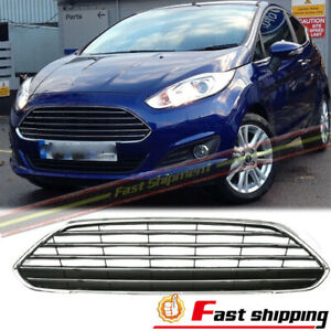 Fits 2013 2016 Ford Fiesta Mk7 Front Bumper Radiator Center Grille Panel Cover