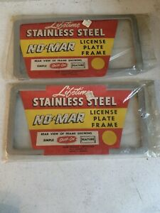 2 Lifetime Stainless Steel No Mar License Plate Frames Simple Snap On Feature