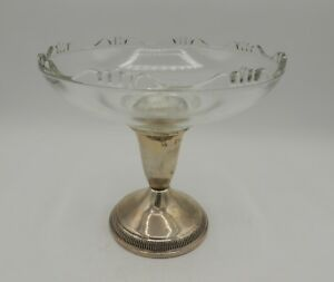 Sterling Silver Pedestal Compote Weighted Raimond Vintage