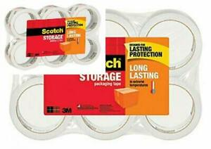 Scotch Long Lasting Storage Packaging Tape 1 88 Inches X 54 6 6 Rolls Clear