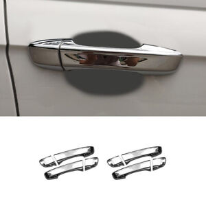 Abs Chrome Side Door Handle Cover Trim For Volkswagen Polo Mk6 2019 2020 8pcs