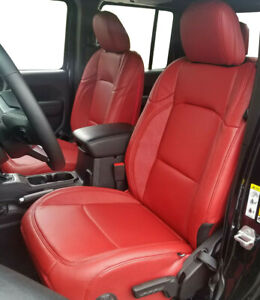 Leather Seat Covers Kit 2018 2021 Jeep Wrangler Jl Sport Sahara S Rubicon Red