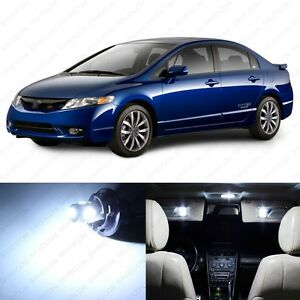 10 X White Led Lights Interior Package For Honda Civic 2006 2012 Pry Tool