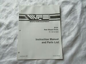 White B320 Rear Mount Blade Instruction Manual And Parts Catalog