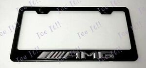 3d Amg Mercedes Benz Emblem Stainless Steel License Plate Frame Rust Free