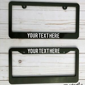 Custom Personalized Text License Plate Frame Tag