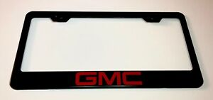 Gmc Stainless Steel License Plate Frame Rust Free W Bolt Caps