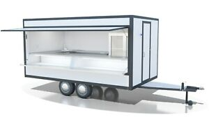 Food Truck Mobile Catering Trailer Coffee Vintage Style classica 78 5x78 5 In