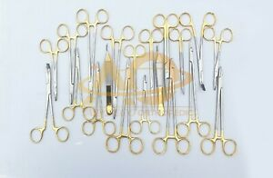 Veterinary Surgical Instruments Needle Holder Scissors Forceps Set Of 20 Pieces
