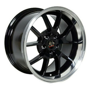 Black Wheel 18x10 W machined Lip For 1994 2004 Ford Mustang Owh0789