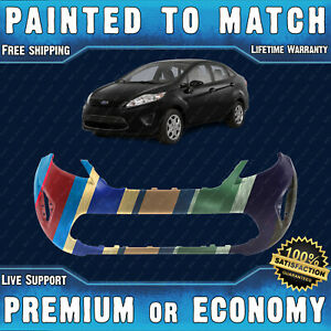 New Painted To Match Front Bumper For 2011 2012 2013 Ford Fiesta Sedan hatchback