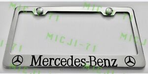 Mercedes Benz Stainless Steel License Plate Frame Rust Free W Bolt Caps