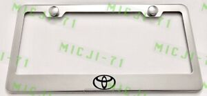 Camry Stainless Steel License Plate Frame Rust Free W Bolt Caps
