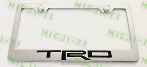 Trd Stainless Steel License Plate Frame Rust Free W Bolt Caps