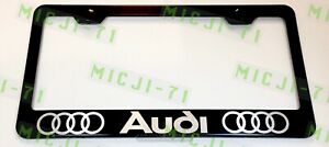 Audi Stainless Steel License Plate Frame Rust Free W Bolt Caps