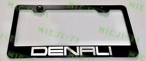 Denali Stainless Steel License Plate Frame Rust Free W Bolt Caps
