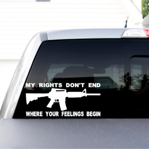 My Rights Funny Pro 2a Pro Gun Vinyl Sticker Decal For Window Bumper Man Cave