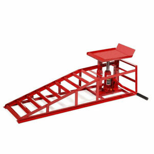 A Pair Lift Repairframe Auto Car Service Ramps Lifts Heavy Duty Hydraulic Fast