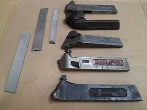 Vintage Lot Of 5 Lathe Tool Holders Armstrong Williams