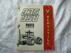1978 Versatile 935 950 Tractor Parts Catalog Book Manual