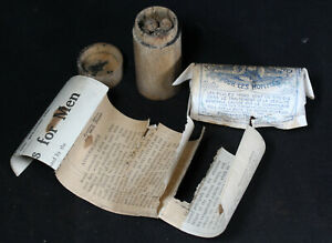 Antique Moro S Pills For Men Charcoal Tablets In Wooden Canister W Label